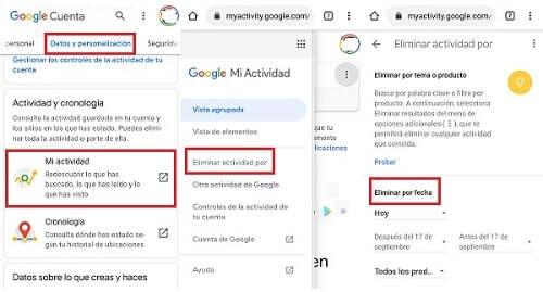 eliminar rastro de google