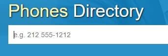 directorio de números de teléfono