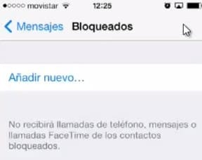 Bloquear número iPhone