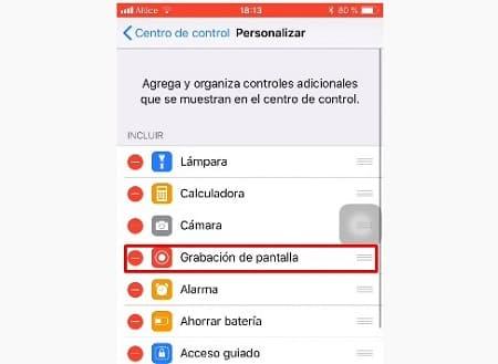 iOS grabar
