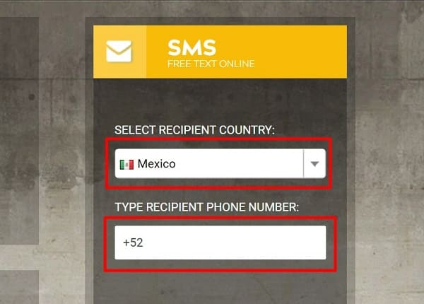 Enviar mensaje de texto México