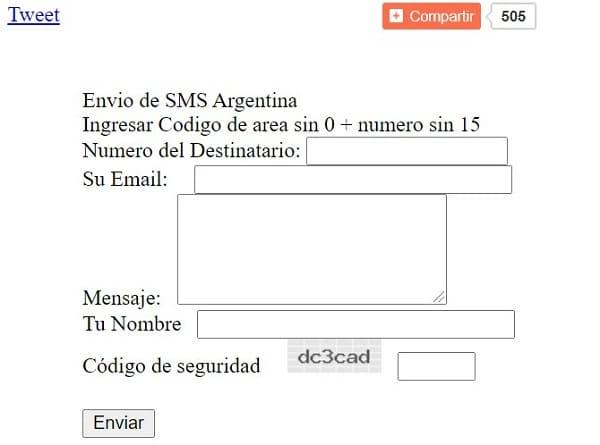 Páginas para enviar mensajes de texto Internet