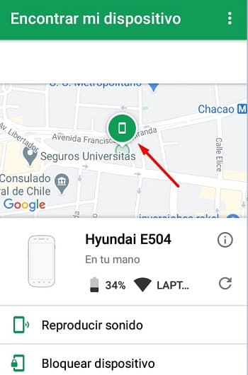 Android Device Manager buscar móvil