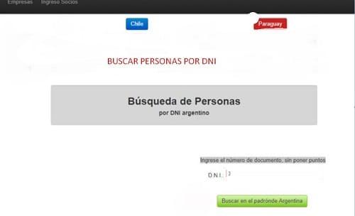 Buscar por DNI páginas webs
