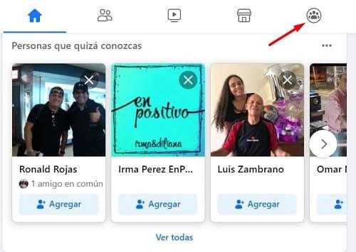 Buscar gente en Facebook