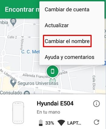 Android Device Manager sitio web