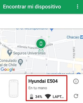 Android Device Manager ordenador
