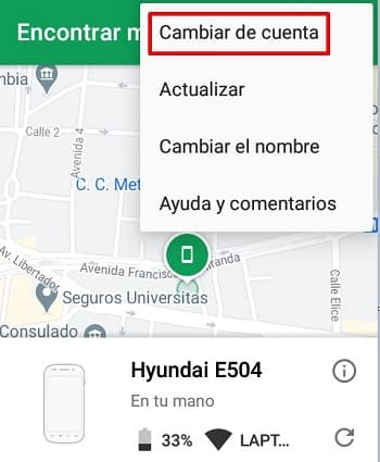 Android Device Manager encontrar persona en mapa