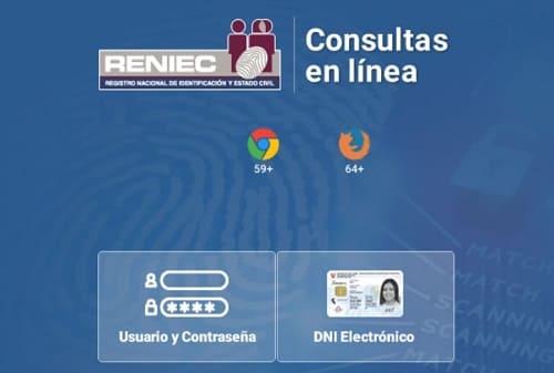 Reniec web Perú