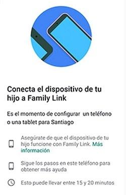 conectar dispositivo cuenta hijo
