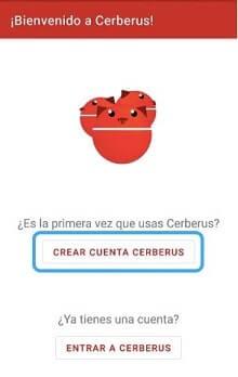crear cuenta cerberus
