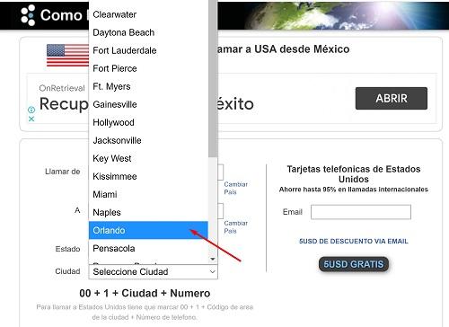 Cómo llamar a Estados Unidos desde México