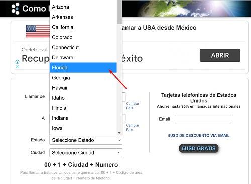 Llamar a Estados Unidos desde México