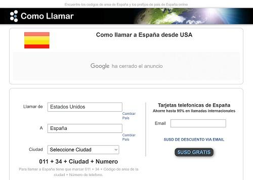 Cómo llamar a España desde USA