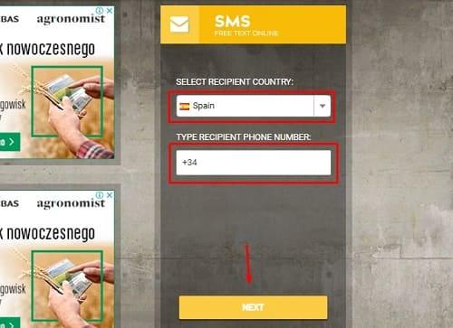 SMS gratis con Internet
