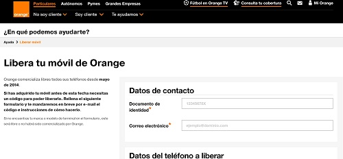 cómo liberar un teléfono orange